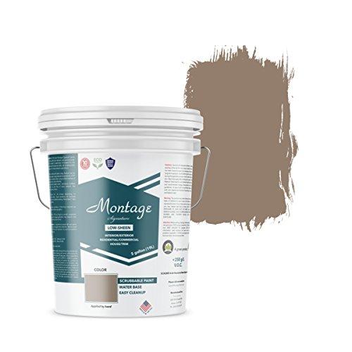 Montage Signature Interior/Exterior Eco-Friendly Paint, Riverstone - Low Sheen, 5 Gallon