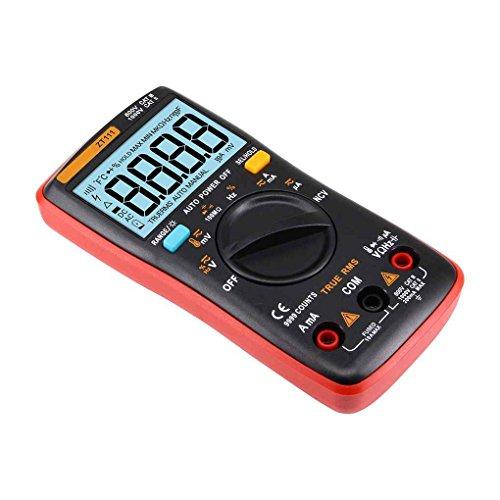 Minzhi ZT111 9999 Word Digital Multimeter Automatic Manual Range Backlit Display Digital Multimeter with NCV Induction Test