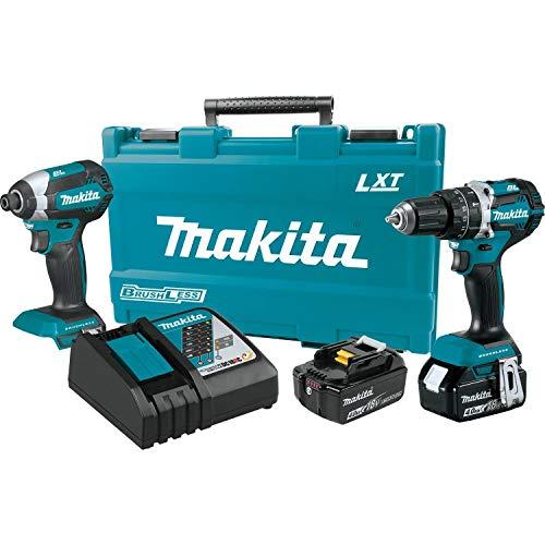 Makita XT269M 18V LXT Lithium-Ion Brushless Cordless 2-Pc. Combo Kit (4.0Ah),